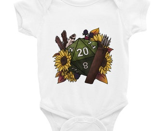 Ranger Class D20 Infant Bodysuit - D&D Tabletop Gaming