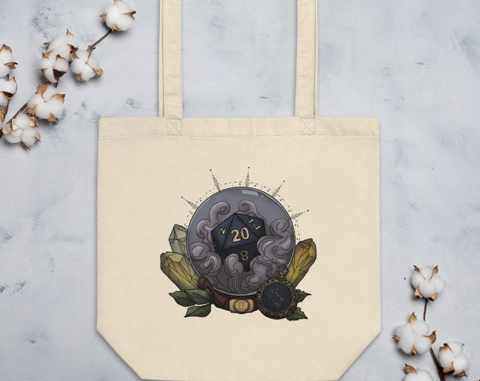 Gemini D20 Tote Bag - D&D Tabletop Gaming - Zodiac
