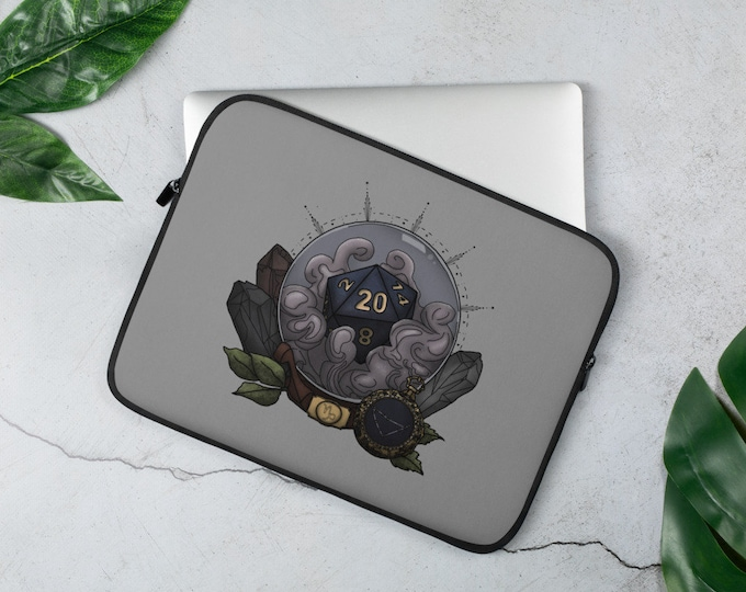 Capricorn D20 Laptop Sleeve - D&D Tabletop Gaming - Zodiac Astrology