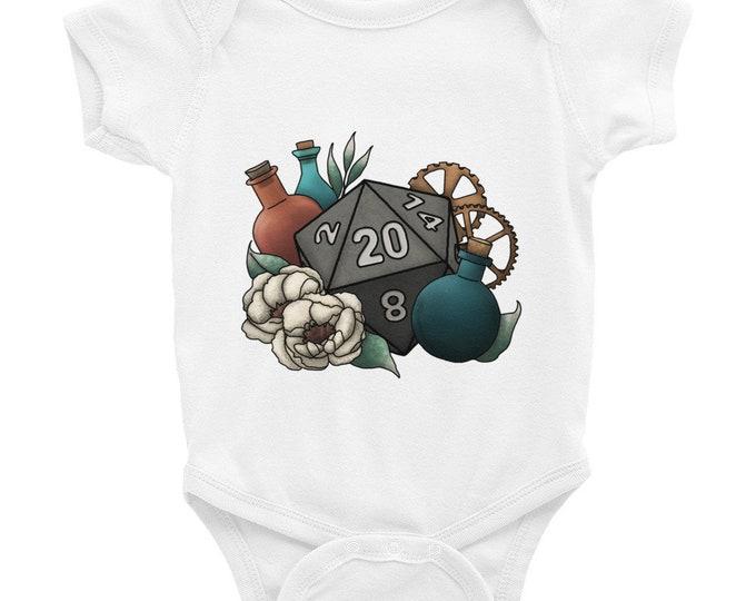 Artificer D20 - Infant Bodysuit - D&D Tabletop Gaming