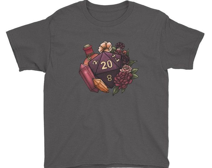 Sorcerer Class D20 Youth Kids Short Sleeve T-Shirt - D&D Tabletop Gaming