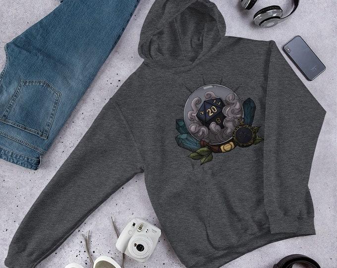 Aquarius D20 Unisex Hoodie Sweatshirt - D&D Tabletop Gaming - Zodiac