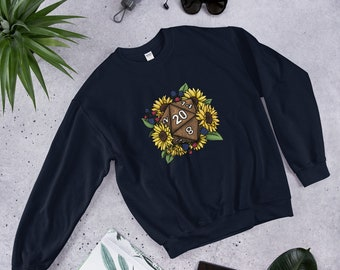 Sunflower D20 Unisex Sweatshirt - D&D Tabletop Gaming