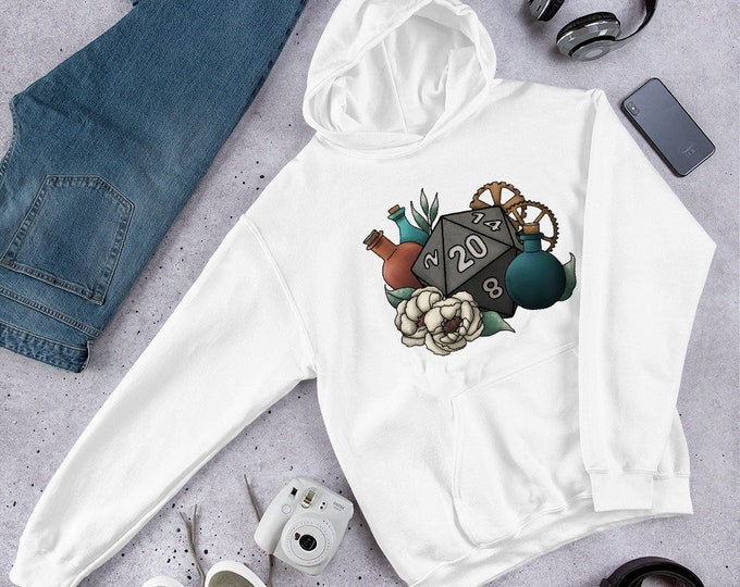 Artificer D20 - Hooded Sweatshirt - D&D Tabletop Gaming