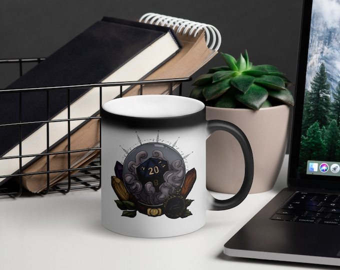 Leo D20 Heat-Activated Color Change Mug - D&D Tabletop Gaming - Zodiac