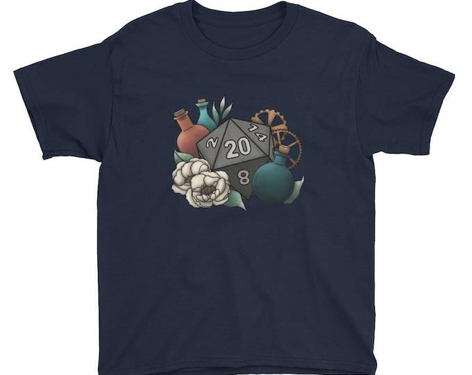 Artificer D20 - Youth Short Sleeve T-Shirt - D&D Tabletop Gaming