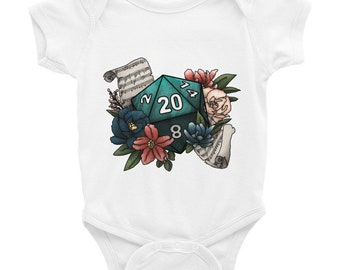 Bard Class D20 Infant Bodysuit - D&D Tabletop Gaming