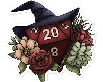 Wizard Class D20 - Vinyl Sticker - D&D Tabletop Gaming