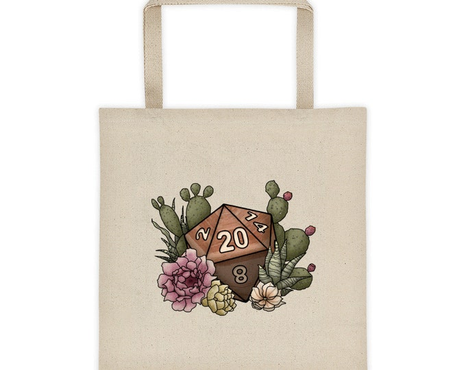 Desert D20 - Tote bag - D&D Tabletop Gaming