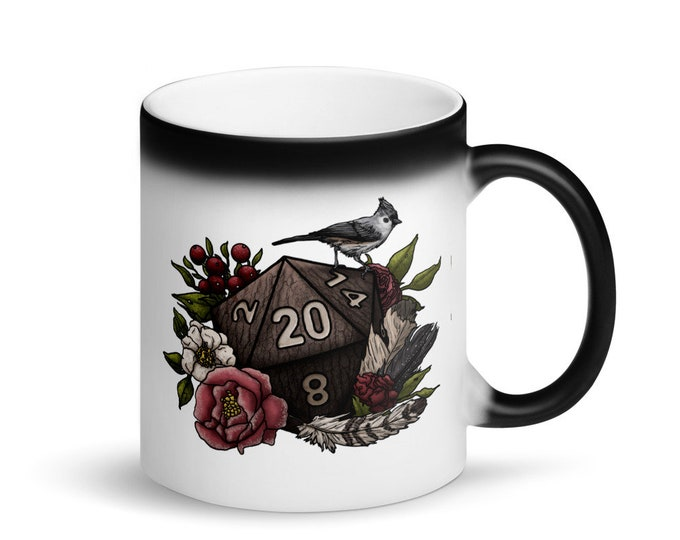 Druid D20 - Heat Activated Color Change Mug - D&D Tabletop Gaming