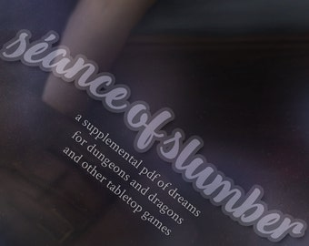 Seance of Slumber PDF - D&D 5e Tabletop RPG Supplement - Dungeons and Dragons
