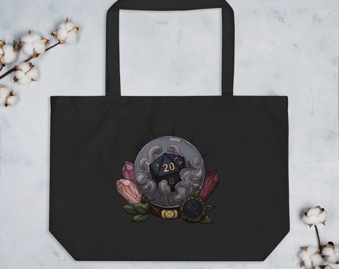 Taurus D20 Oversized Tote Bag - D&D Tabletop Gaming - Zodiac