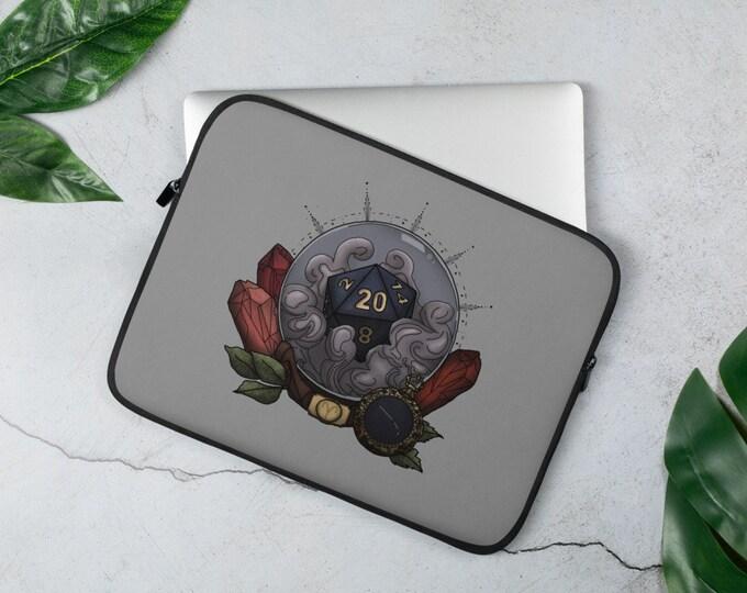 Aries D20 Laptop Sleeve - D&D Tabletop Gaming - Zodiac Astrology