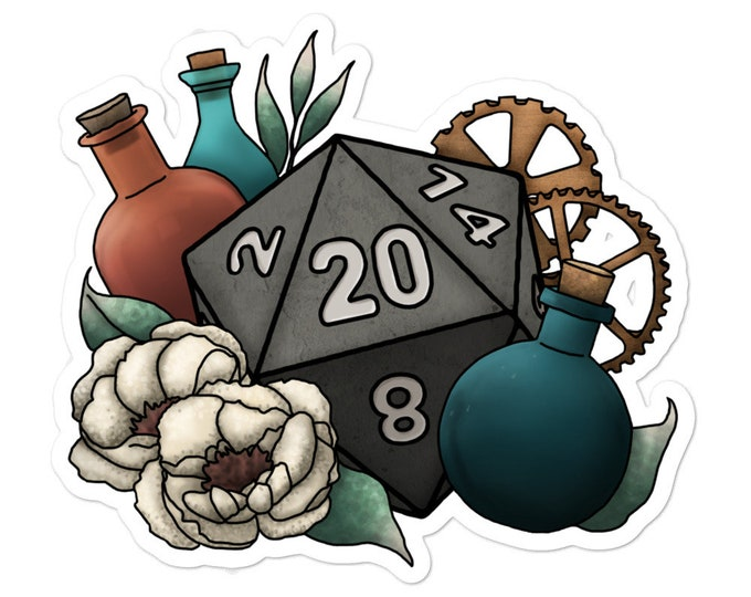 Artificer D20 - Vinyl bubble-free stickers - D&D Tabletop Gaming