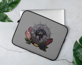 Taurus D20 Laptop Sleeve - D&D Tabletop Gaming - Zodiac Astrology