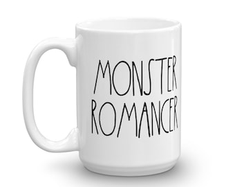 Monster Romancer - White Mug - D&D Tabletop Gaming - Rae Dunn Inspired
