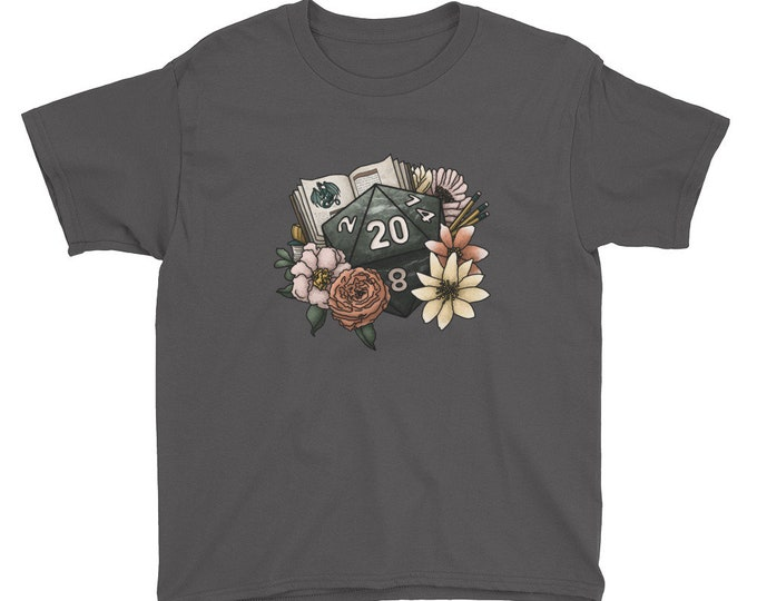 Dungeon Master D20 Youth Short Sleeve T-Shirt - D&D Tabletop Gaming
