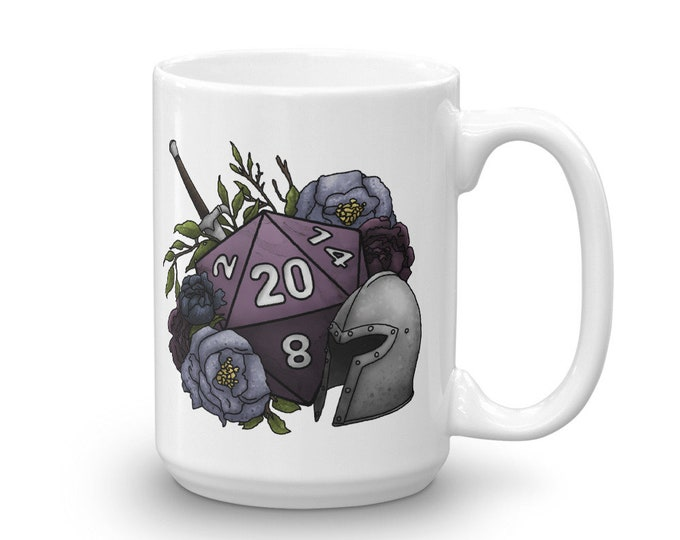 Fighter Class D20 Mug - D&D Tabletop Gaming