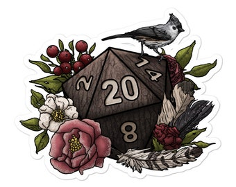 Druid Class D20 - Vinyl Sticker - D&D Tabletop Gaming