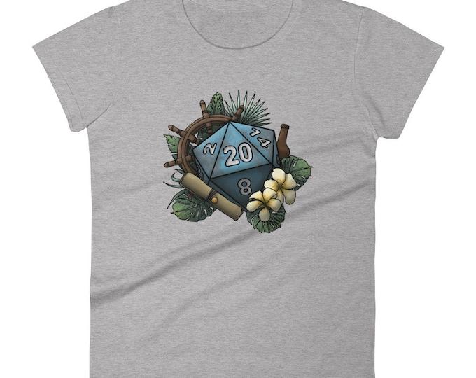 Seafaring D20 - Women's short sleeve t-shirt - D&D Tabletop Gaming
