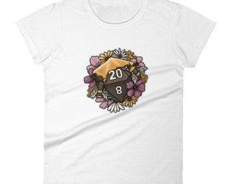 Honeycomb D20 Women's short sleeve t-shirt - D&D Tabletop Gaming