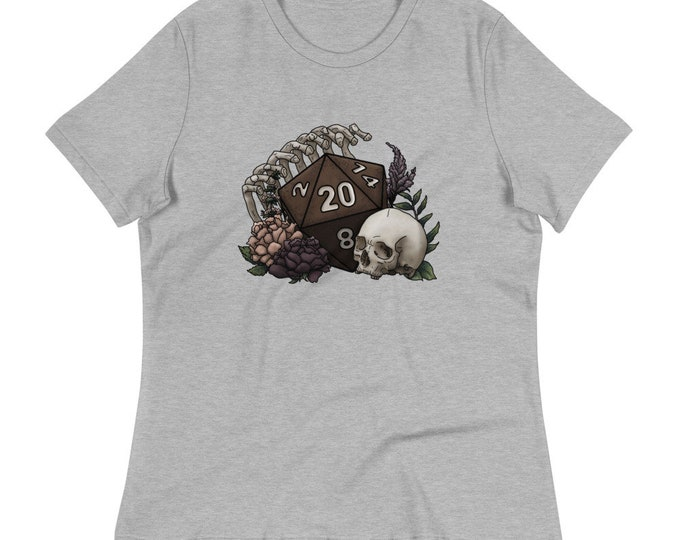 Skeleton D20 Women's Relaxed T-Shirt - D&D Tabletop Gaming