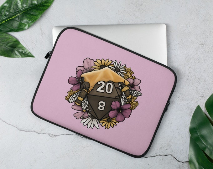 Honeycomb D20 Laptop Sleeve - D&D Tabletop Gaming