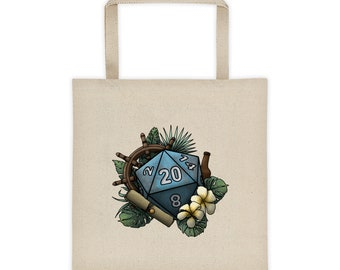 Seafaring D20 - Tote bag - D&D Tabletop Gaming