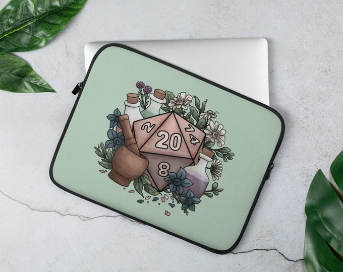 Alchemist D20 Laptop Sleeve - D&D Tabletop Gaming