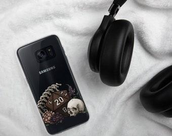Skeleton D20 Samsung Case - D&D Tabletop Gaming