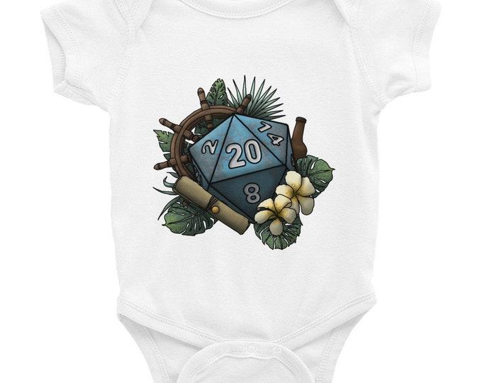 Seafaring D20 - Infant Bodysuit - D&D Tabletop Gaming