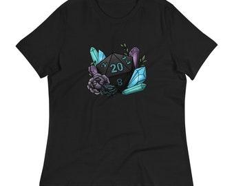 Mystic D20 Women's Relaxed T-Shirt - D&D Tabletop Gaming