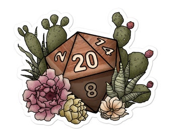 Desert D20 - Vinyl Sticker - D&D Tabletop Gaming