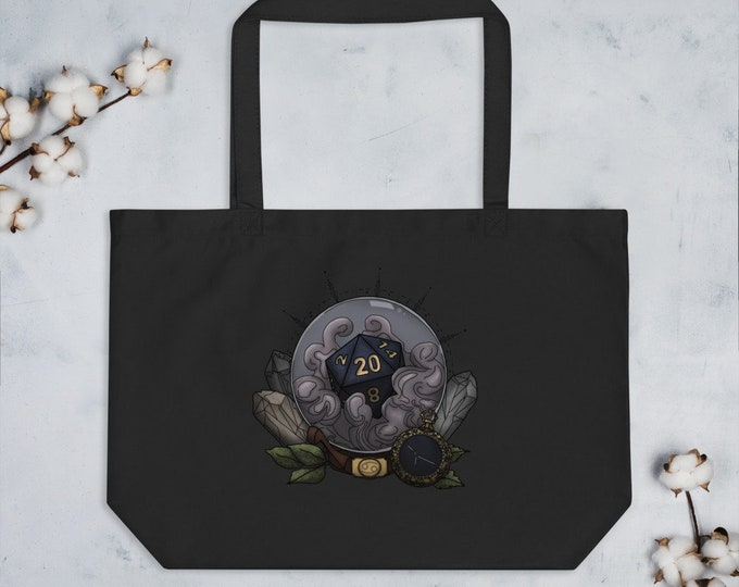 Cancer D20 Oversized Tote Bag - D&D Tabletop Gaming - Zodiac