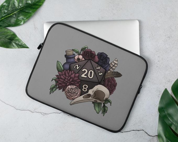 Necromancer D20 Laptop Sleeve - D&D Tabletop Gaming