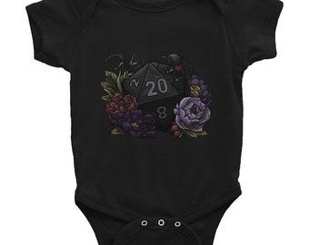 Drow D20 - Infant Bodysuit - D&D Tabletop Gaming