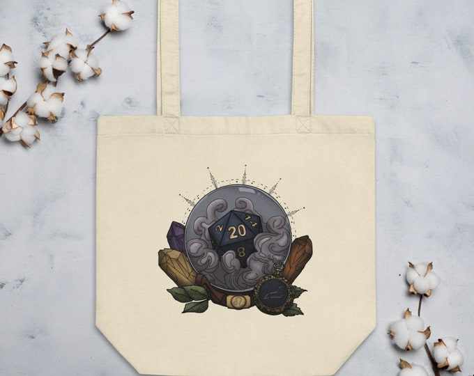 Leo D20 Tote Bag - D&D Tabletop Gaming - Zodiac