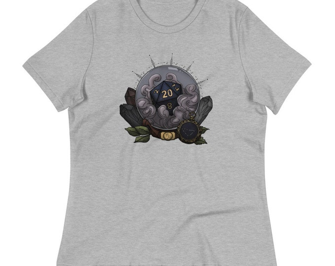 Capricorn Astrology D20 Women's Relaxed T-Shirt - D&D Tabletop Gaming - Zodiac