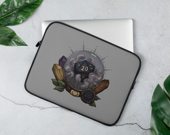 Leo D20 Laptop Sleeve - D&D Tabletop Gaming - Zodiac Astrology