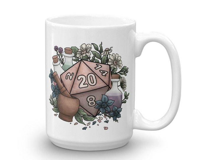 Alchemist D20 Mug - D&D Tabletop Gaming