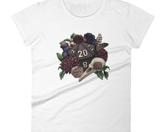 Necromancer D20 Women's short sleeve t-shirt - D&D Tabletop Gaming