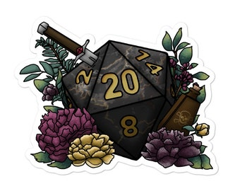 Assassin D20 - Vinyl Sticker - D&D Tabletop Gaming