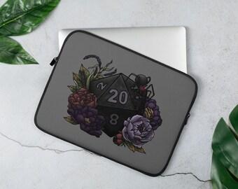 Drow D20 Laptop Sleeve - D&D Tabletop Gaming