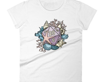 Mermaid D20 Women's short sleeve t-shirt - D&D Tabletop Gaming