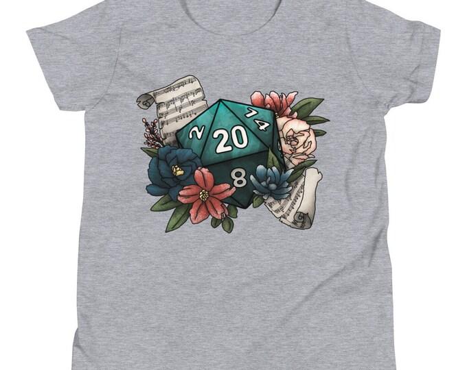 Bard Class D20 Youth Short Sleeve T-Shirt - D&D Tabletop Gaming