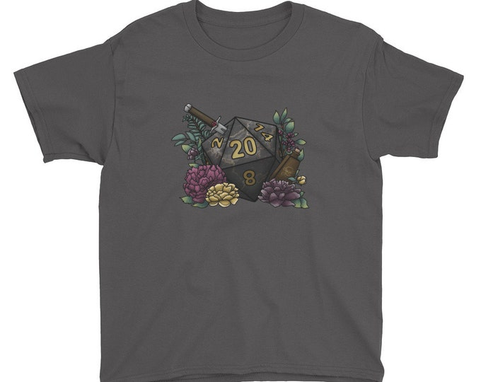 Assassin D20 - Youth Short Sleeve T-Shirt - D&D Tabletop Gaming