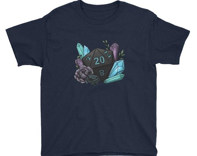 Mystic D20 - Youth Short Sleeve T-Shirt - D&D Tabletop Gaming
