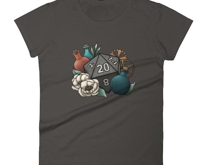 Artificer D20 - Women's short sleeve t-shirt - D&D Tabletop Gaming