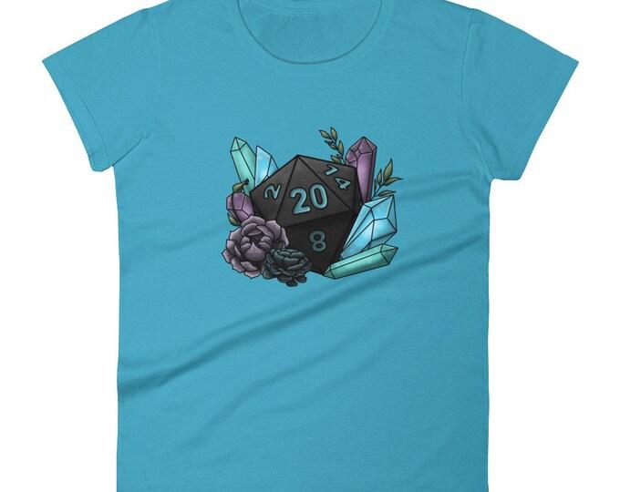 Mystic D20 - Women's short sleeve t-shirt - D&D Tabletop Gaming