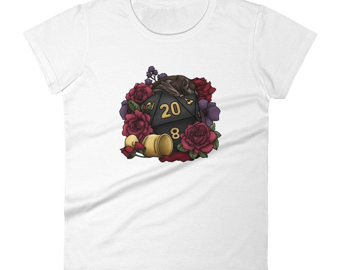 Vampire D20 Women's short sleeve t-shirt - D&D Tabletop Gaming